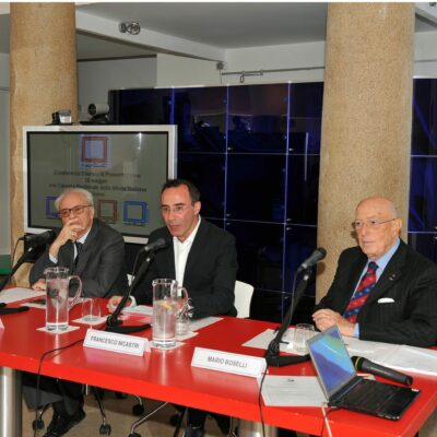 Gianfranco Nicastri presenta Nartist alla Camera Nazionale della Moda con il cav. Mario Boselli e il gallerista Enzo Cannaviello